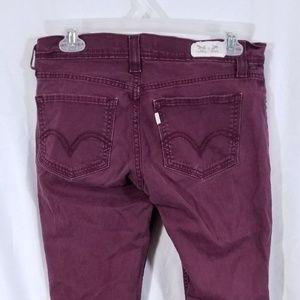 Levi 524 Skinny Jeans Red Womens Sz 7M
